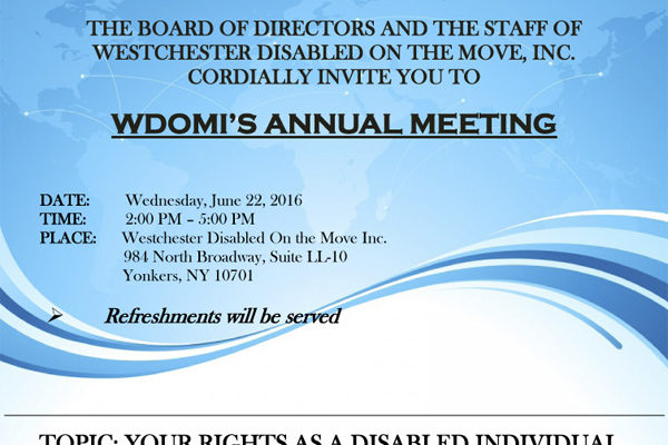 Annual Meeting Flyer for June 22 2016