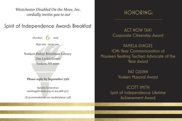 Spirit of Independence Awards 2016 invitation graphic