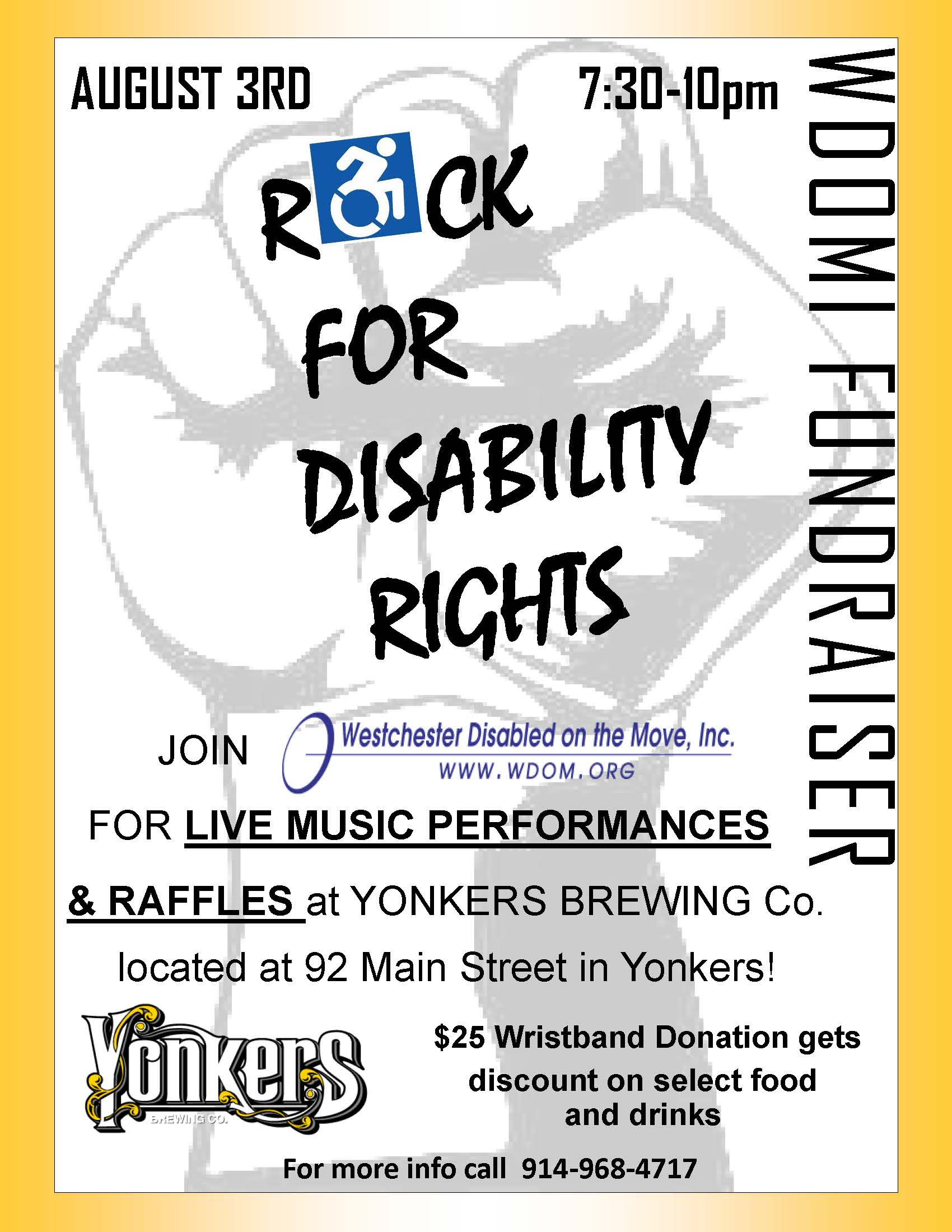 rock for disability rights fundraiser wdomi