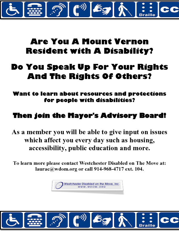 Flyer For Disability Advisory Board