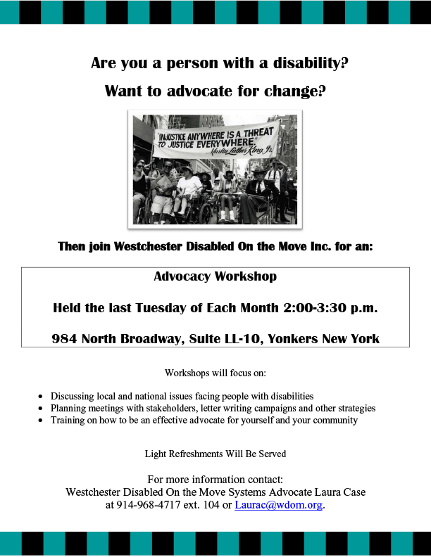 Flyer for Advocacy Workshop - GENERAL